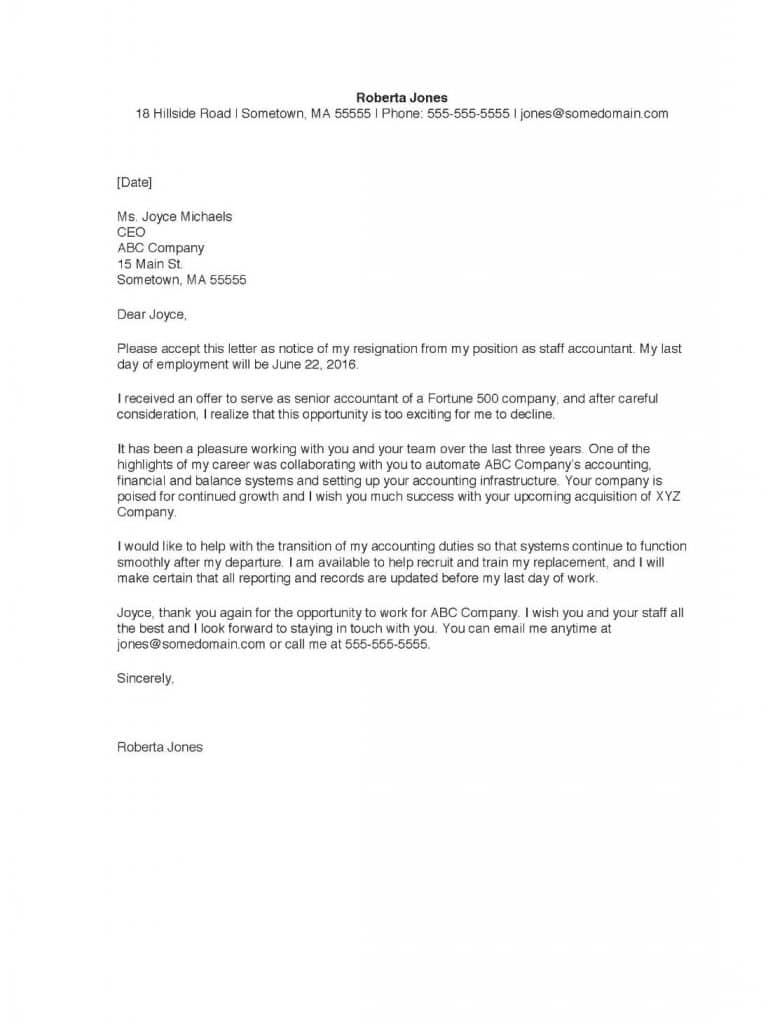 Formal Resignation Letter Sample With Notice Period from rainmakrr.com
