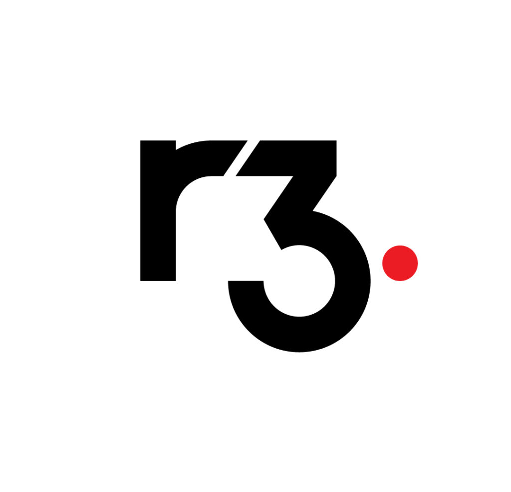 Blockchain startups london r3 R3 Master Logo White