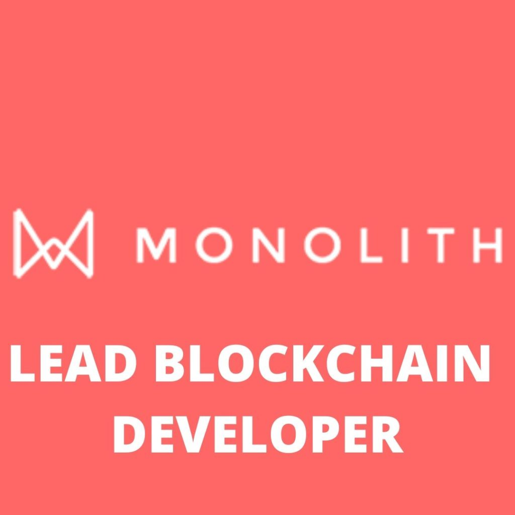 Monolith AI Blockchain Engineer Jobs London