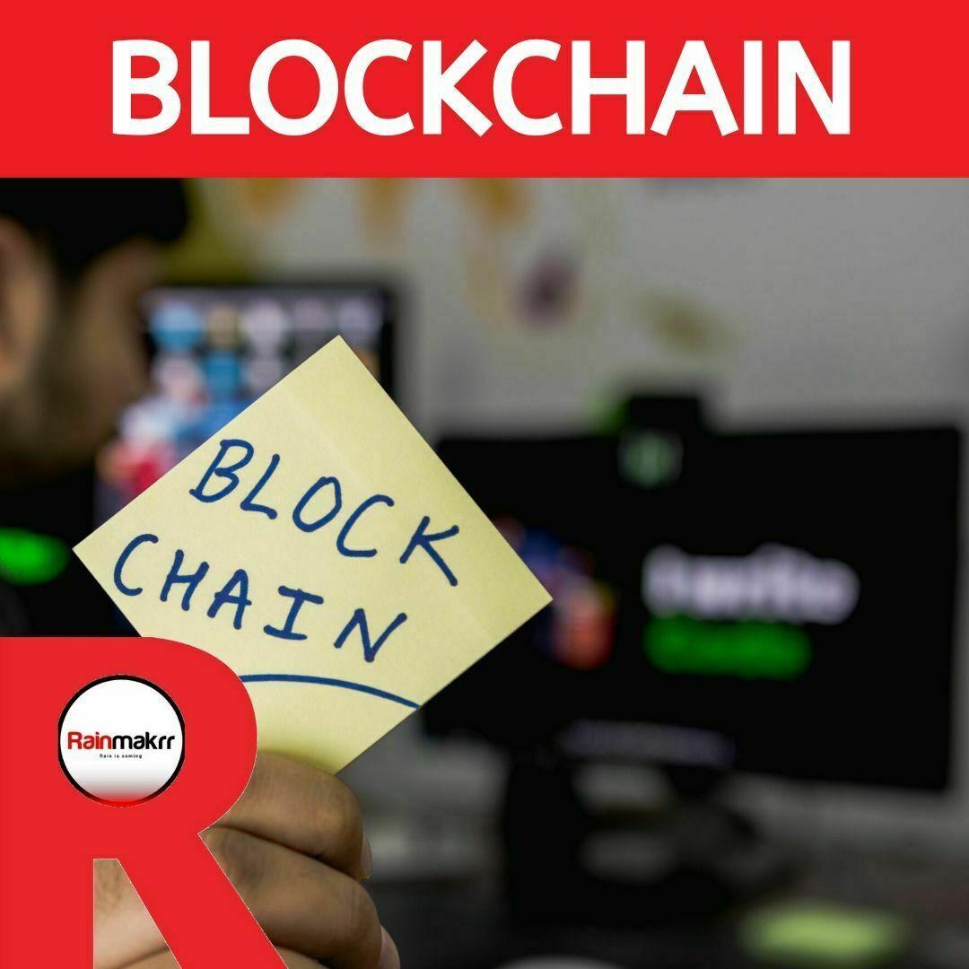 Rainmakrr blockchain post it